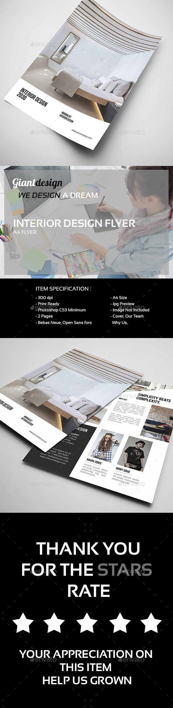 Interior Design - A4 Flyer - Corporate Flyers