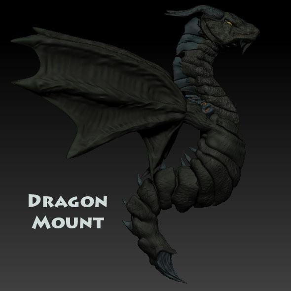 Dragon Mount - 3DOcean Item for Sale