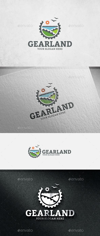 Gear Land Logo Template - Symbols Logo Templates