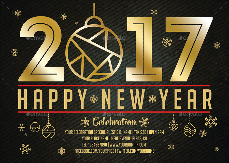 New Year Celebration Flyer Templates By Xepeec | Graphicriver