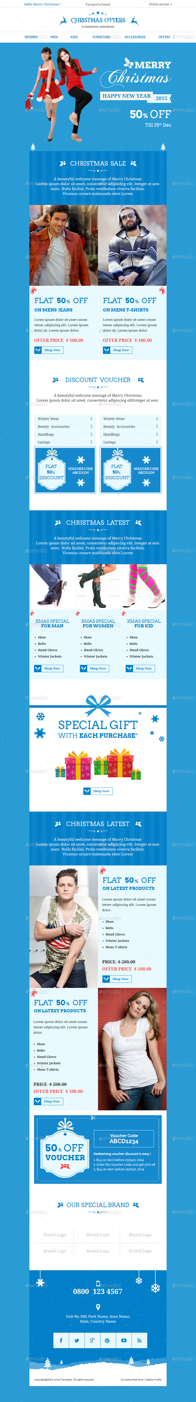 Christmas Bundle Ecommerce Newsletter By Kalanidhithemes - Special offer email template
