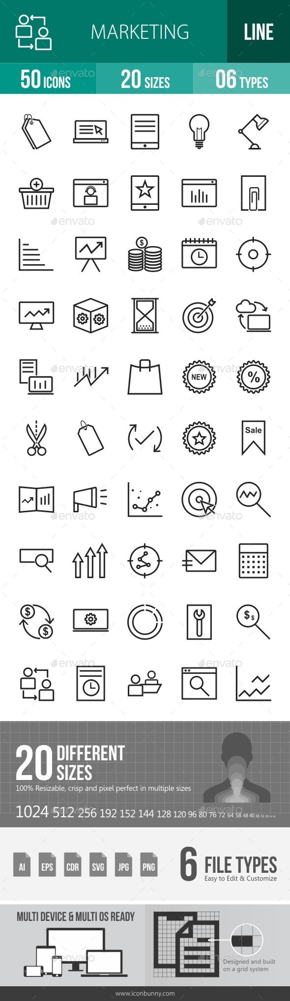 Marketing Line Icons - Icons