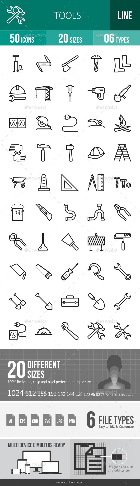 Tools Line Icons - Icons
