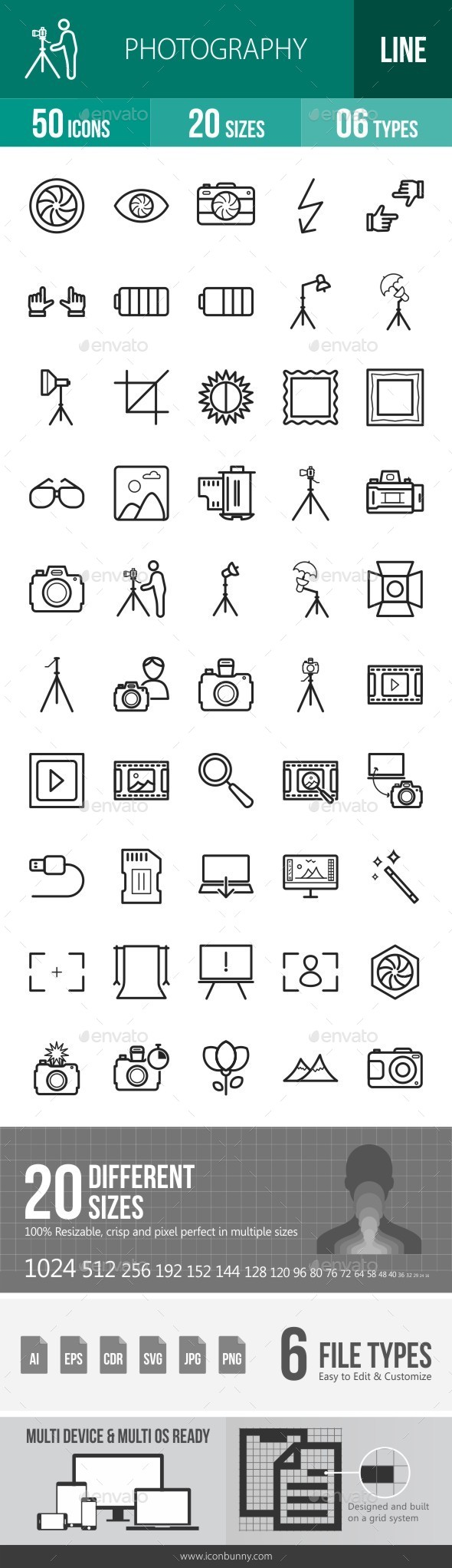 Photography Line Icons - Icons