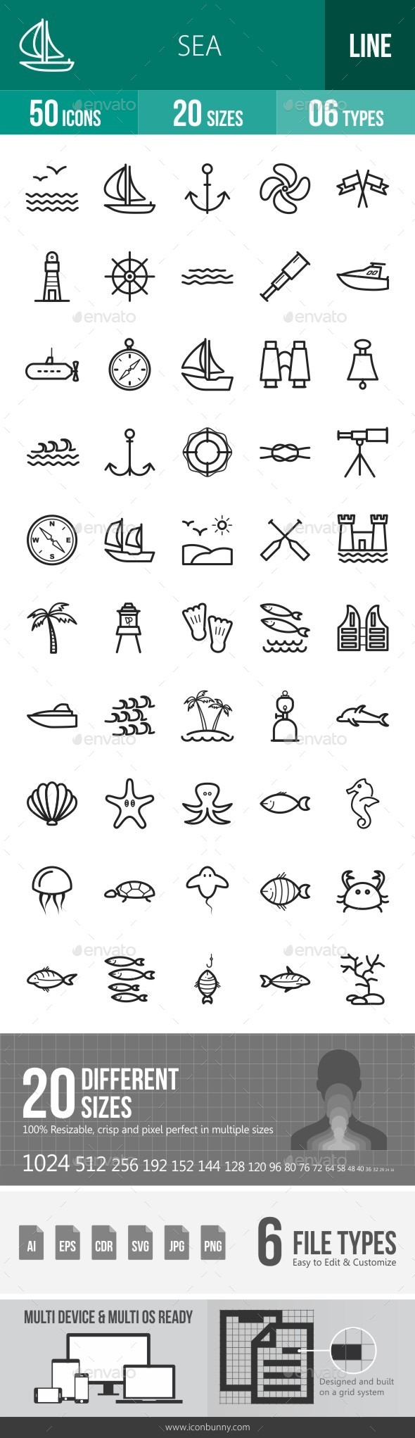 Sea Line Icons - Icons