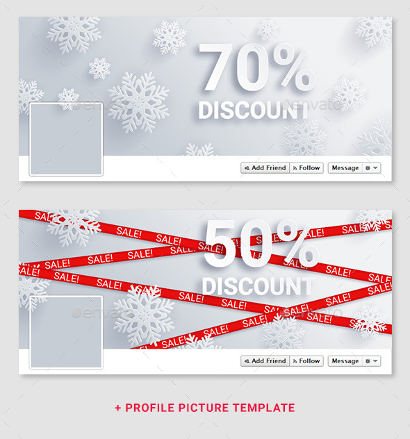 Christmas & New Year Sale Facebook Covers - Facebook Timeline Covers Social Media