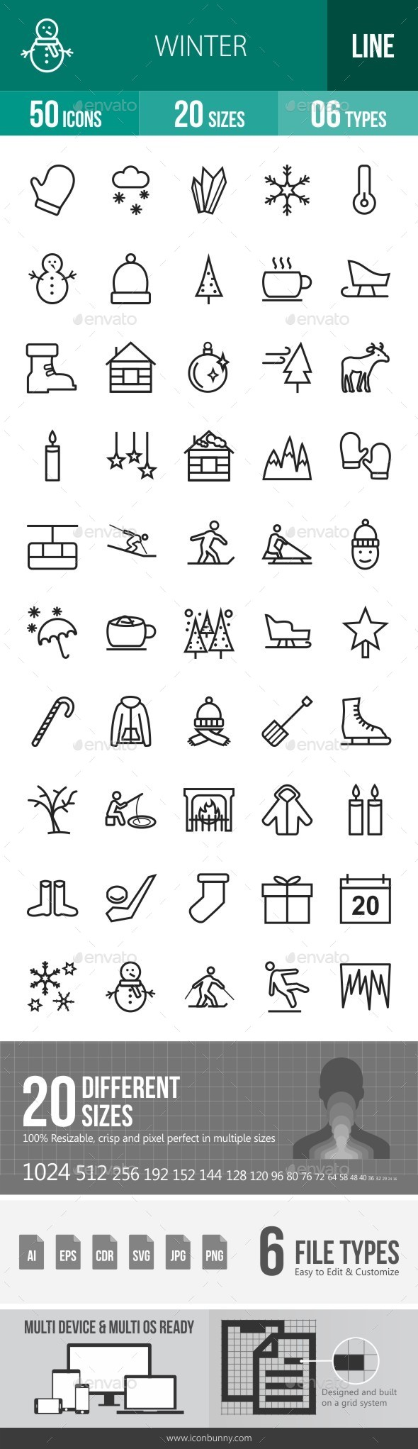 Winter Line Icons - Icons