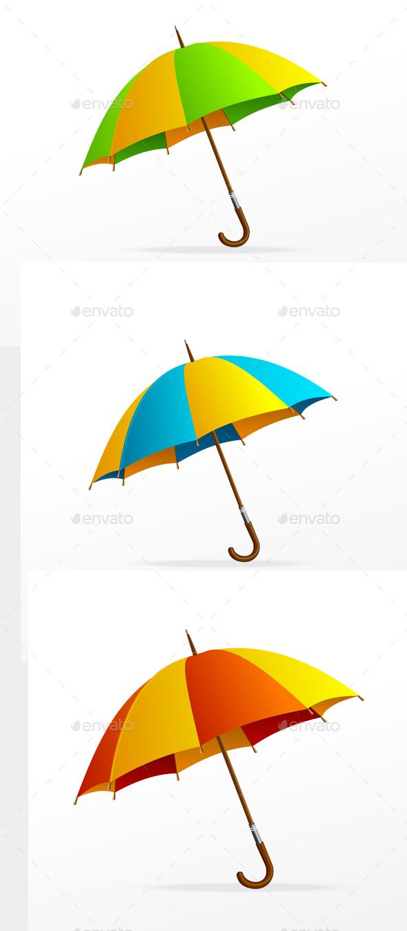 Umbrella Isolated Set. Vector - Objects Vectors