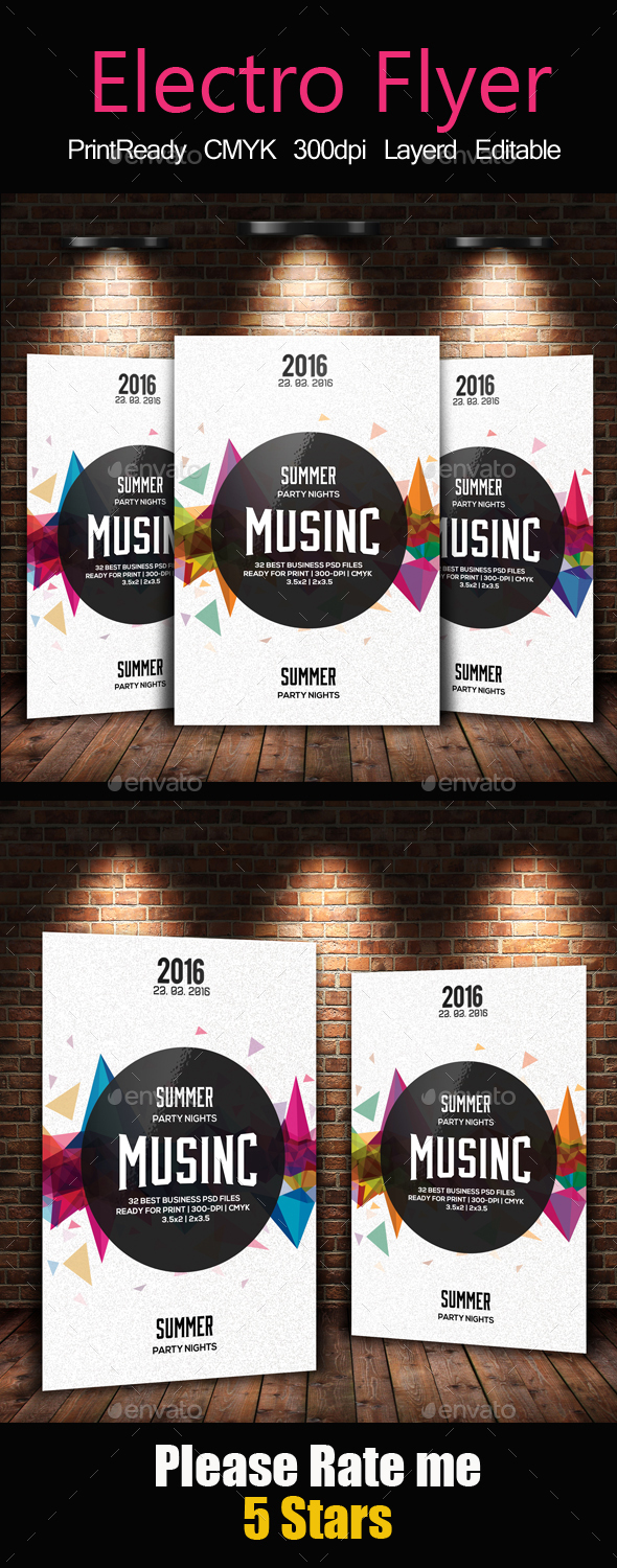 Abstract Flyer Template - Clubs & Parties Events