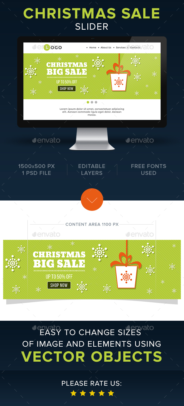 Christmas Slider - Sliders & Features Web Elements