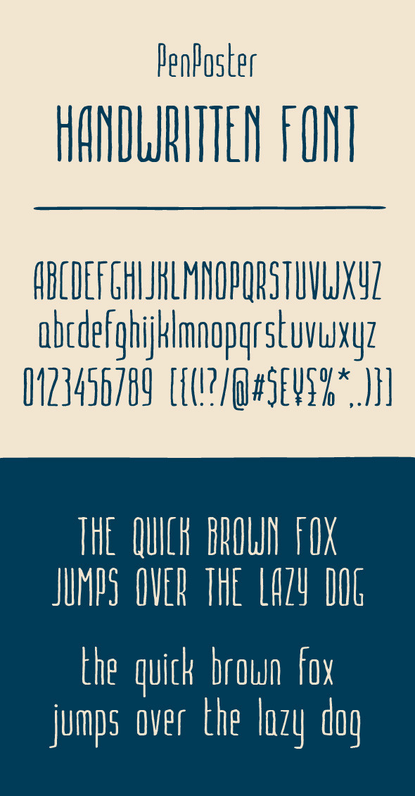 PenPoster handwritten font - Decorative Fonts