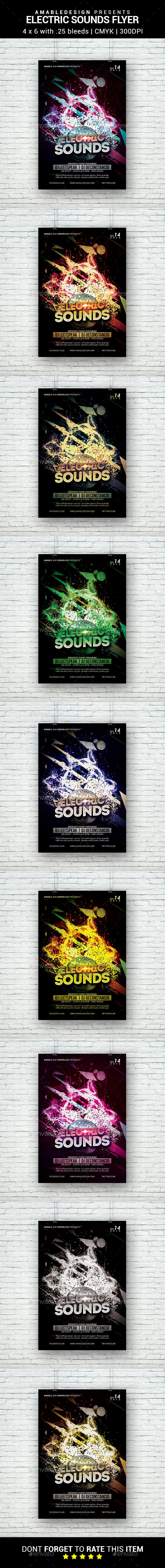 Electric Sounds Flyer - Clubs & Parties Events