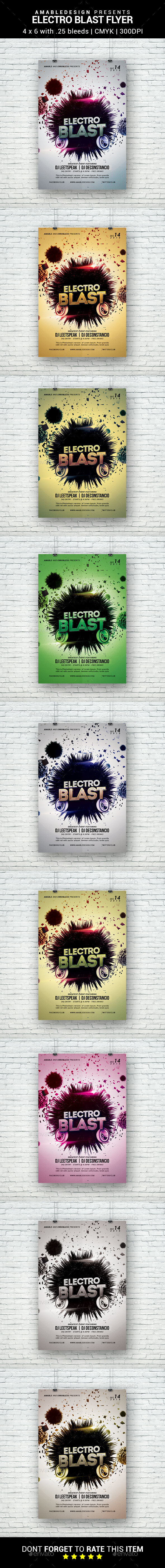 Electro Blast Flyer - Clubs & Parties Events