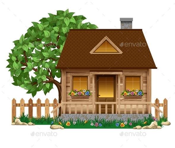 Small Wooden House - Buildings Objects
