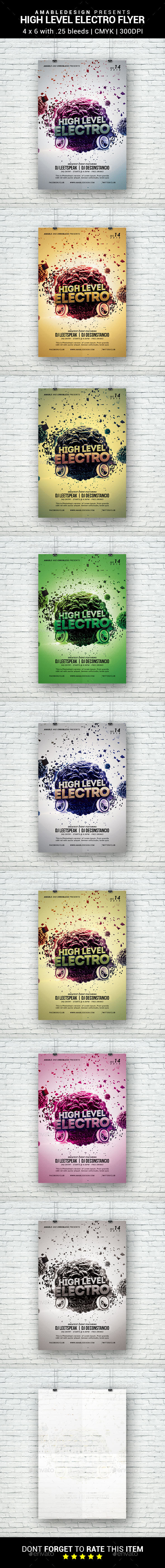 High Level Electro Flyer - Clubs & Parties Events