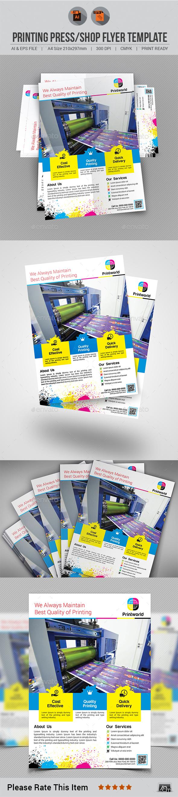 Printing Shop / Press Flyer - Commerce Flyers