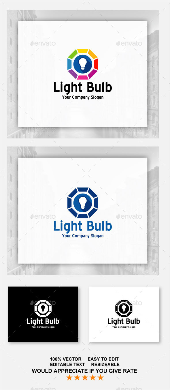 Light Bulb - Abstract Logo Templates