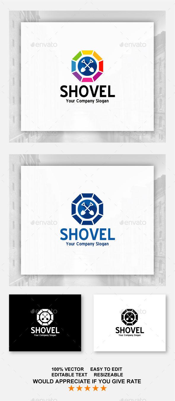 Shovel - Buildings Logo Templates