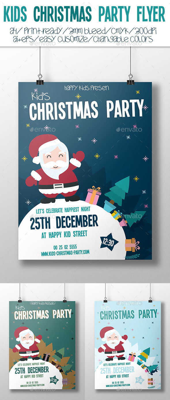 Kids Christmas Party Flyer - Holidays Events