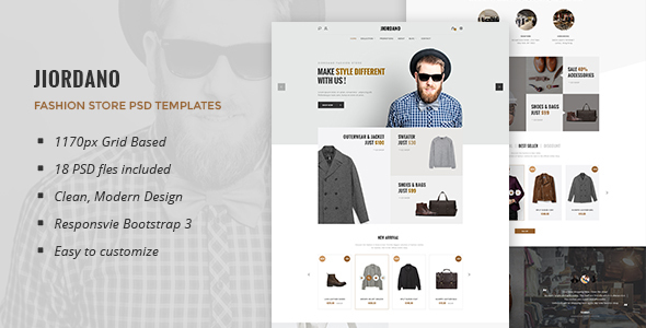Jiordano - Multipurpose eCommerce PSD Template - Retail PSD Templates