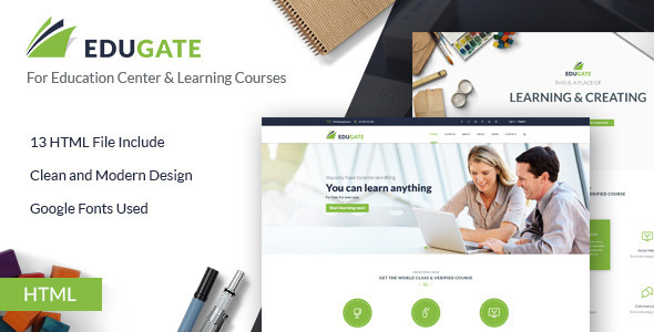 EduGate - Education HTML template