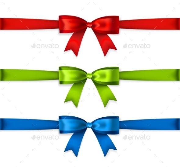 Set Of Colored Ribbons - Christmas Seasons/Holidays