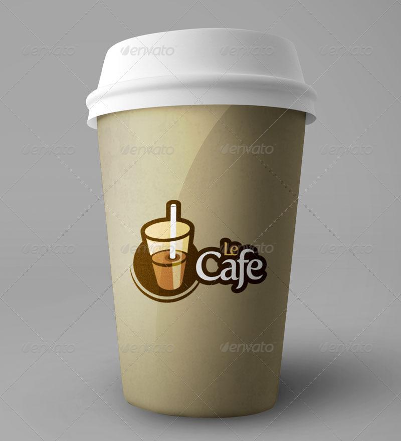 Le Cafe Logo Template