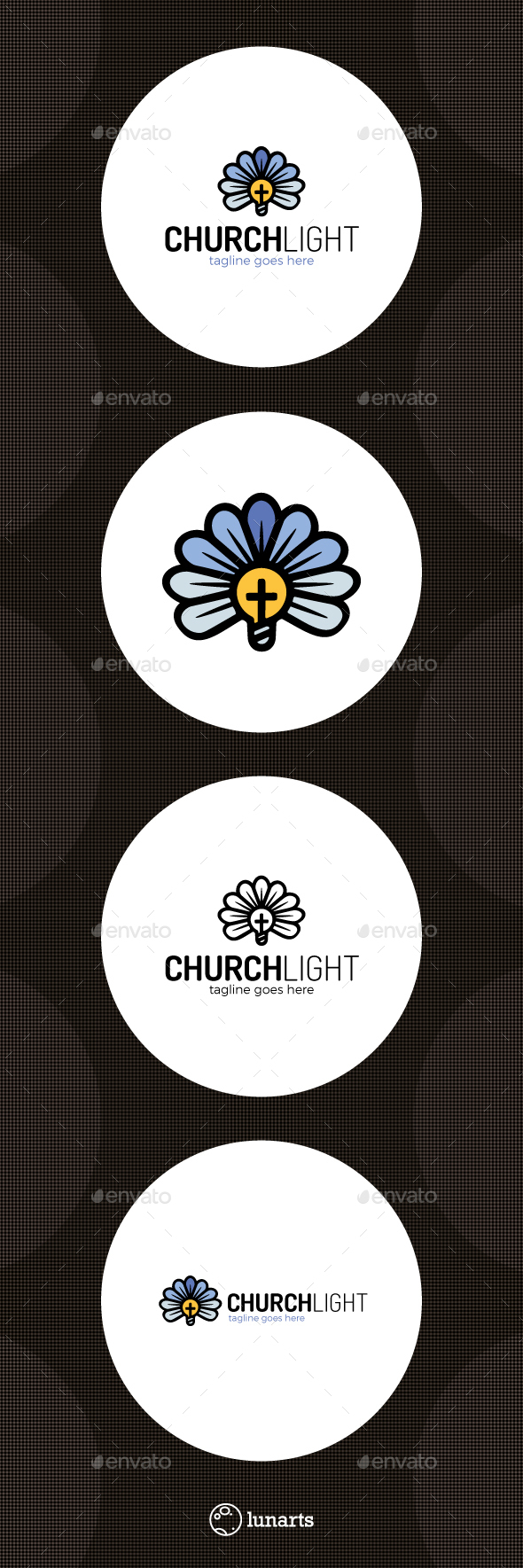 Church Flower Bulb Logo - Nature Logo Templates