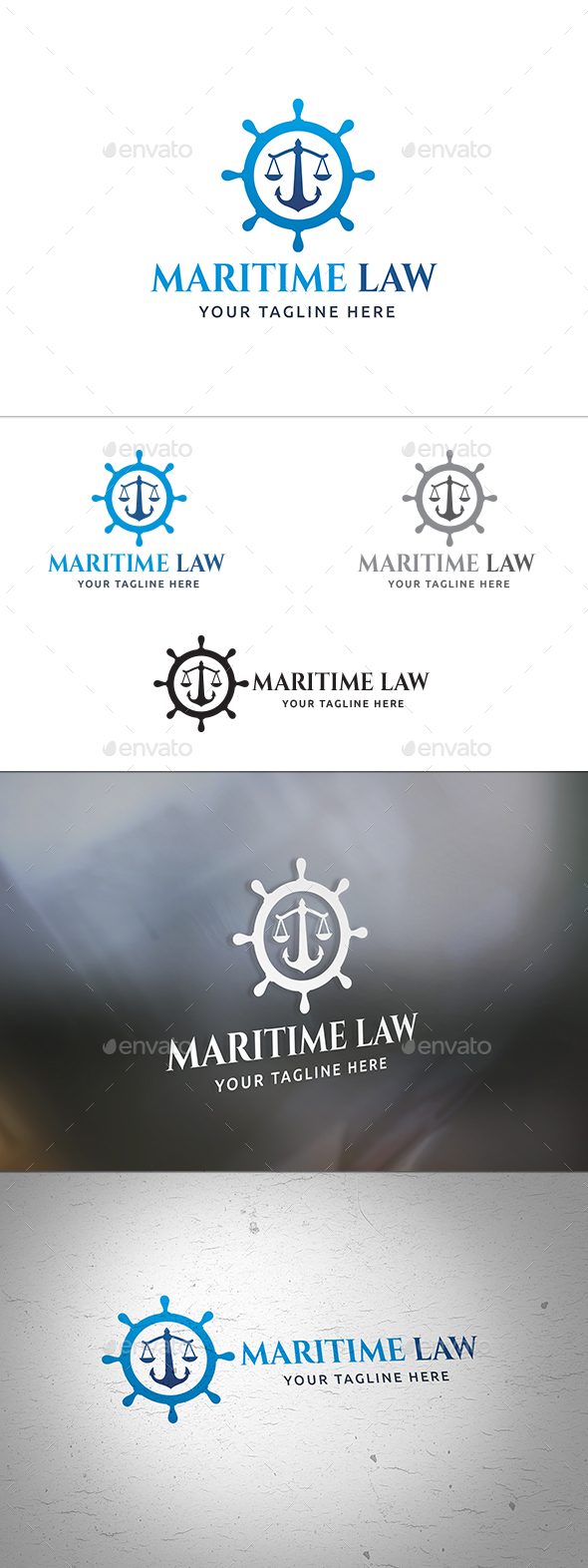 Maritime Law Logo - Objects Logo Templates