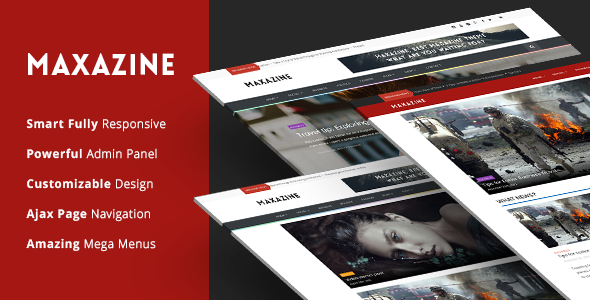 Maxazine – News, Magazine & Blog WordPress Theme