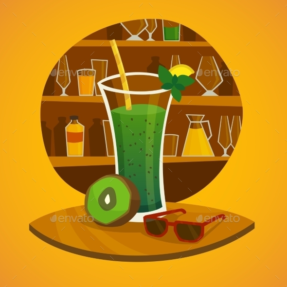 Juice Bar Concept - Food Objects