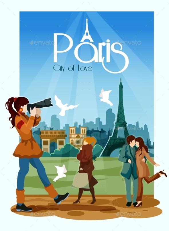 Paris Poster Illustration - Travel Conceptual