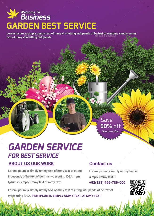 Garden Services Flyer Template By Afjamaal