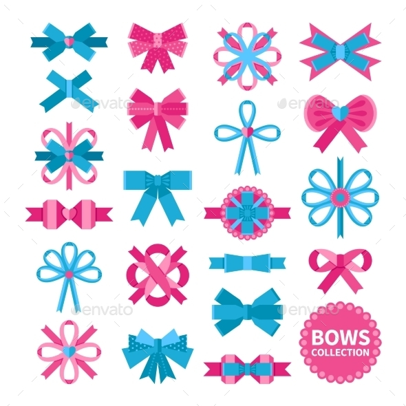 Flat Bows Collection - Decorative Symbols Decorative