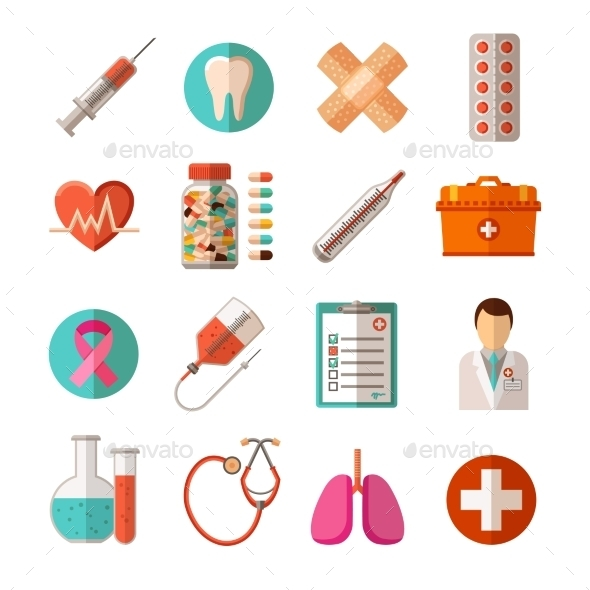 Medical Icons Set - Health/Medicine Conceptual