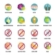 Diets Icons Set - GraphicRiver Item for Sale