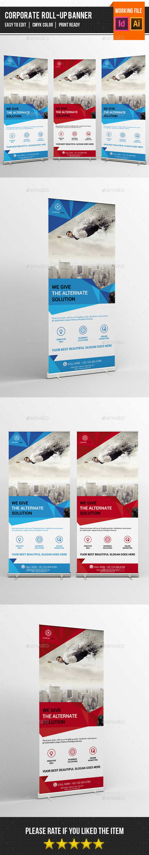 Corporate Roll-up Template-V11 - Signage Print Templates