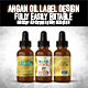 Argan Oil Bottle Label