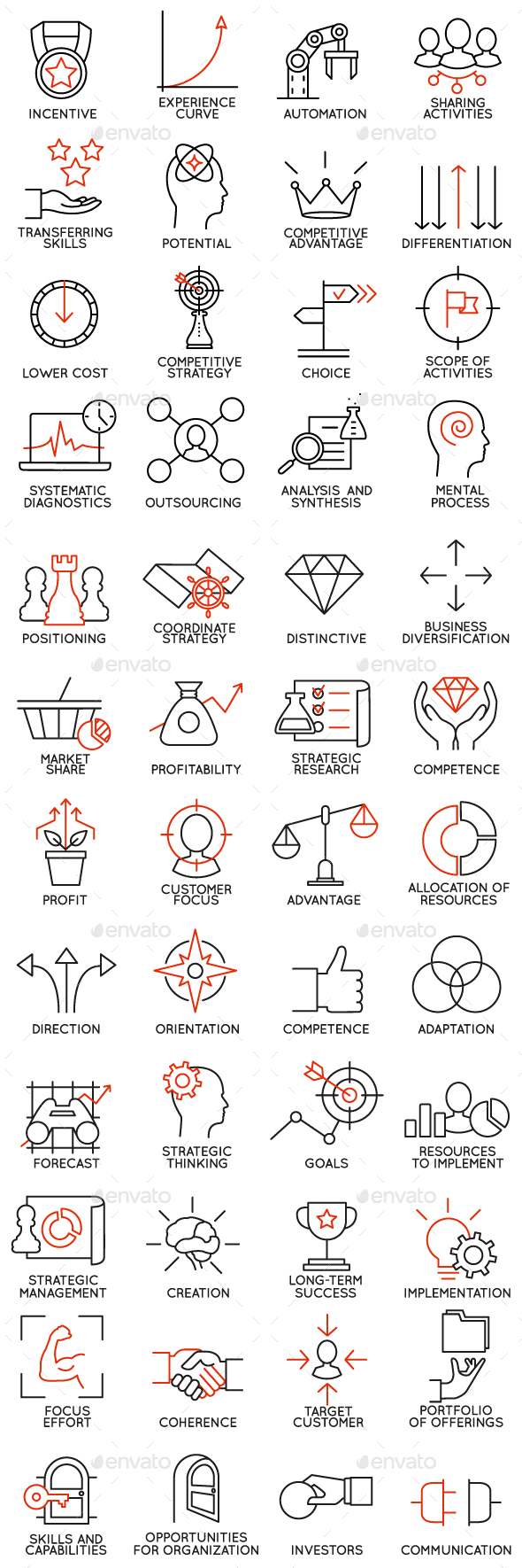 Icons Set of Business Management - part 3 - Business Icons