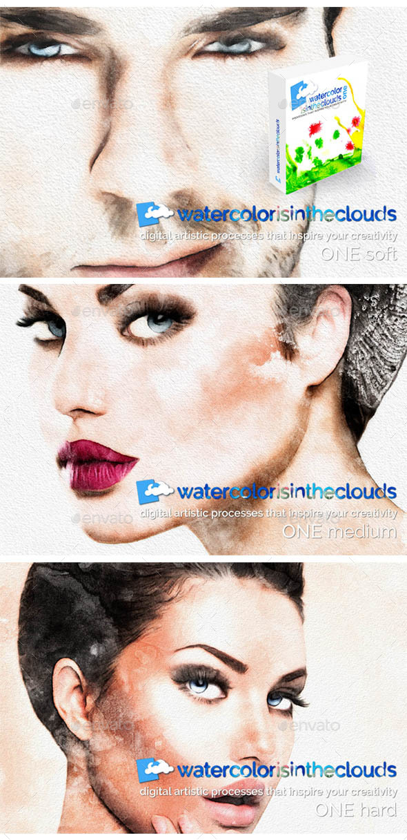 Watercolor ONE - Artistic Photo Templates