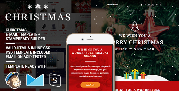 Christmas – Responsive Email + StampReady Builder
