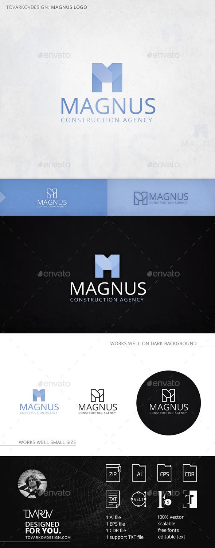 Magnus Letter M Logo Template - Letters Logo Templates