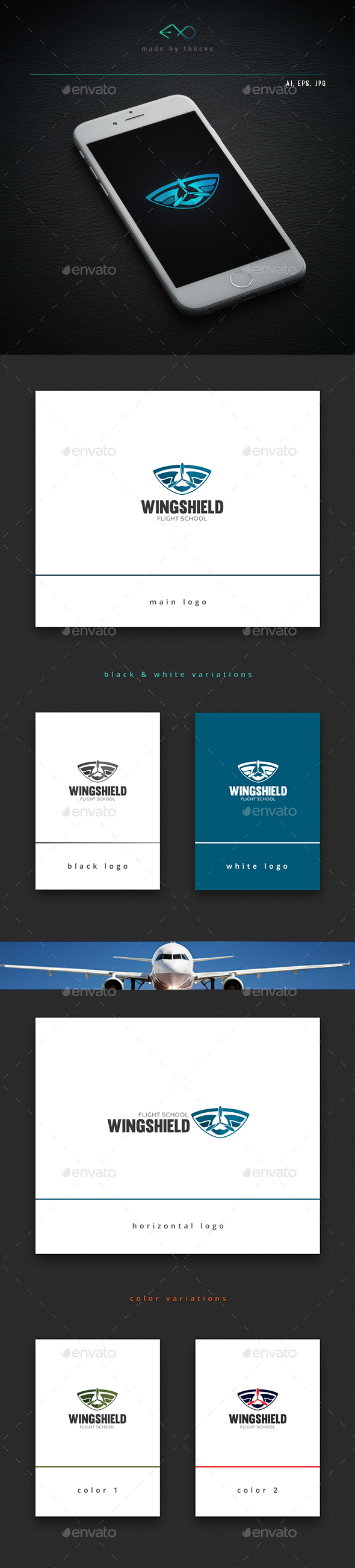 Wingshield - Objects Logo Templates