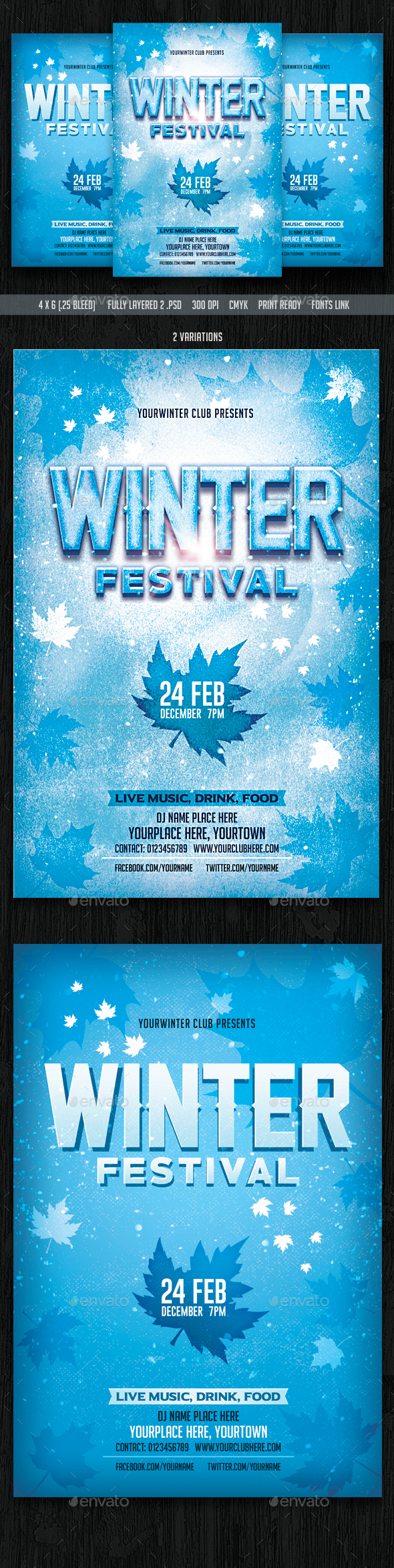 Winter Festival Flyer - Clubs & Parties Events
