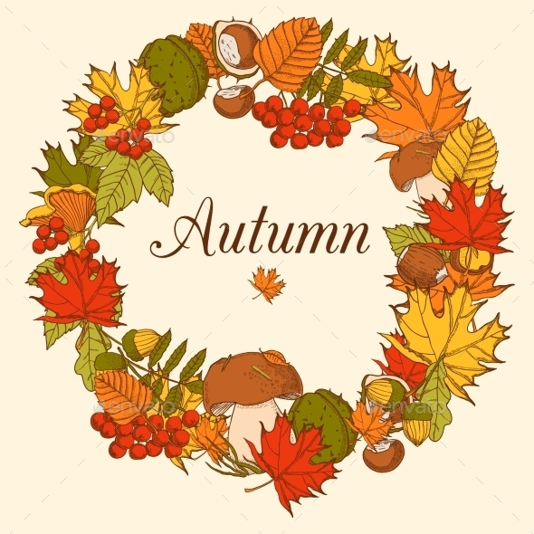 Decorative Color Autumn Frame - Backgrounds Decorative