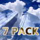 City Skyscrapers – Sun, Sky and Clouds 7 Background - VideoHive Item for Sale