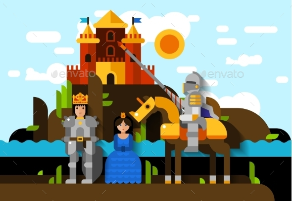 Colorful Knight Poster - Miscellaneous Conceptual