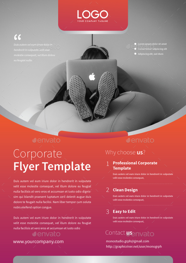 Corporate Flyer Template By Monogrph  Graphicriver