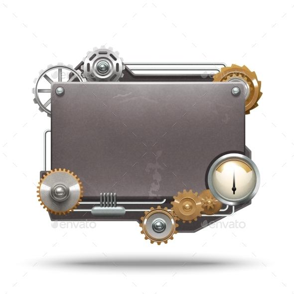 Steampunk Style Frame - Backgrounds Decorative