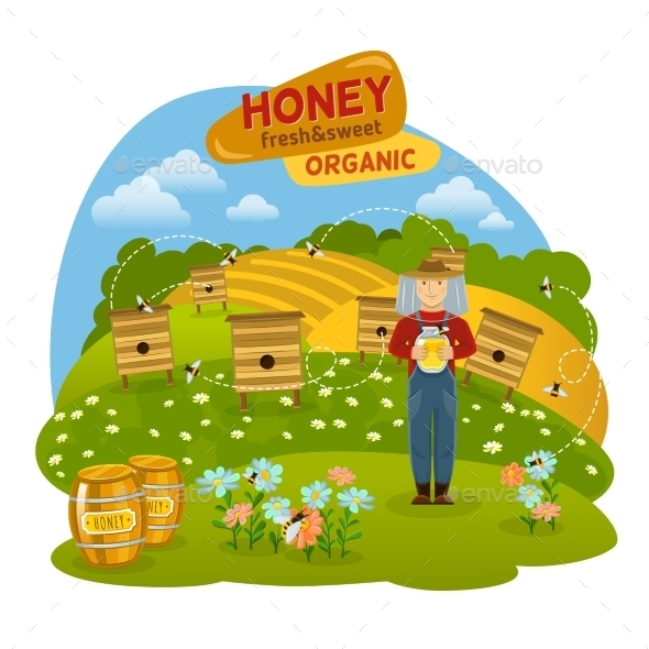 Honey Concept Illustration  - Food Objects